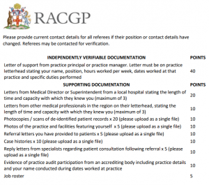 RACGP Supporting Documents